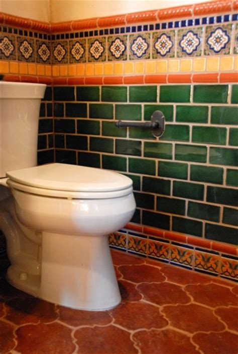 mexican tile eclectic bathroom by clay imports