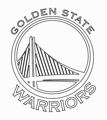Warriors Golden State Coloring Warrior Pages Drawing