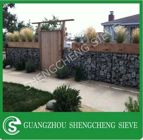 security privacy veranda fence welded gabion design stone