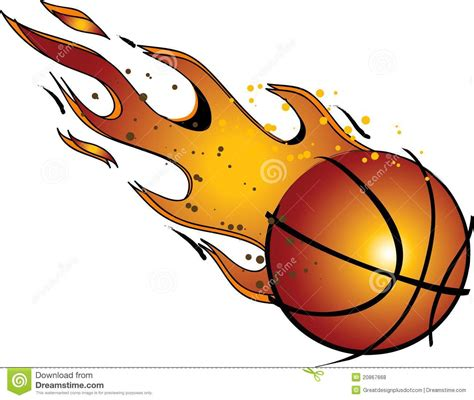 basketball clipart basketball with flames clipart 101 clip