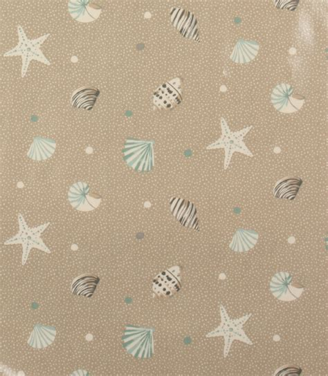 pvc seashells fabric surf  fabrics