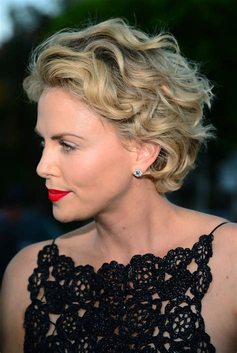 Charlize Theron Short Curls   Short Hairstyles Lookbook
