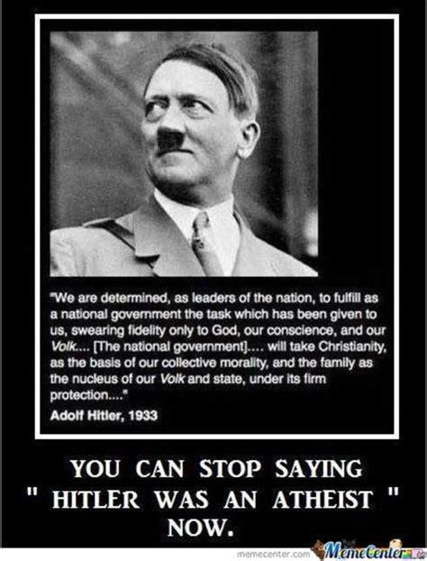 Funny Anti Christian Memes - image 520831 adolf hitler know your meme
