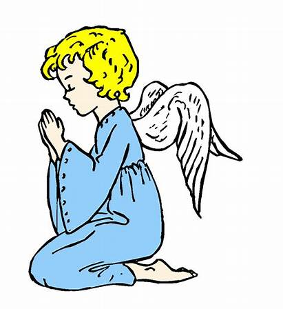 Praying Angel Clipart Prayer Clip Cliparts Simple