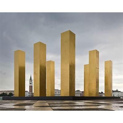 heinz mack elevates the sky over nine columns at