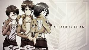 Attack on Titan Eren Levi Mikasa