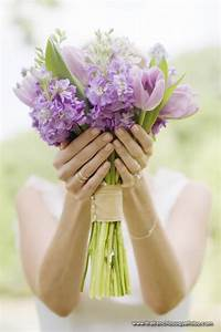 Purple Bouquet with Tulips for Spring Wedding | Bridal ...
