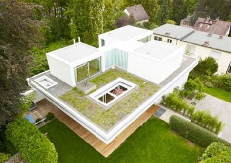 modern houses  green roof designs offering eco