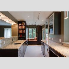 Contemporary Woodharbor Galley Kitchen Contemporary