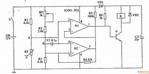 electronic thermostat of the automobile air conditioner With thermostat circuit