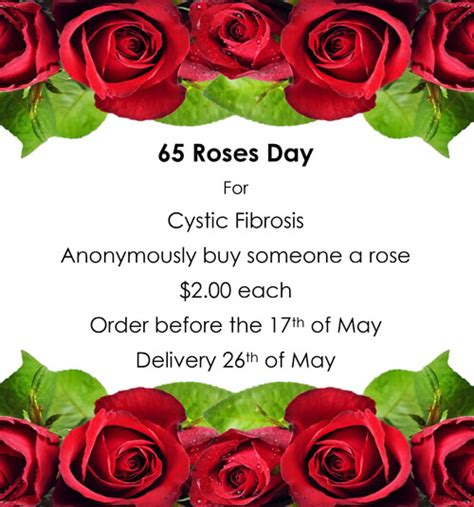 pakenham secondary college roses day raising funds cystic