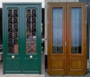 Porte Intérieur Double Vantaux : portes anciennes double vantaux avec tierce et imposte ~ Melissatoandfro.com Idées de Décoration