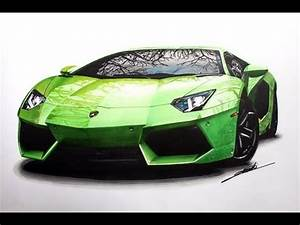 Lamborghini Aventador Speed Drawing by Roman Miah - YouTube