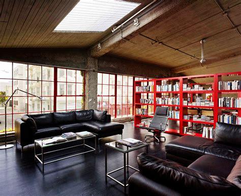 rachat ancien canapé loft dans un ancien entrepôt à san francisco