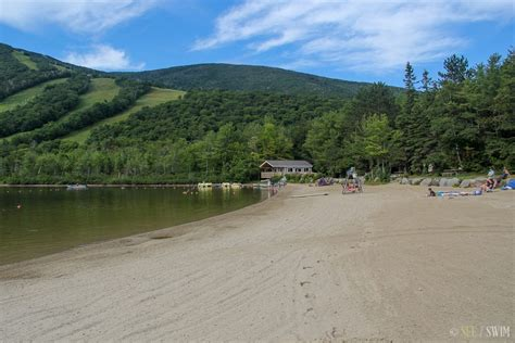 echo lake beach franconia notch state park  swim