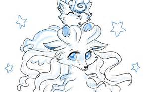 Vulpix and Ninetales Pokemon Coloring Pages