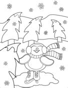 Cute Penguin Ice Skating Coloring page Cute penguins