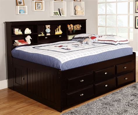 full size bookcase bed full size bookcase captains day bed in espresso 2923