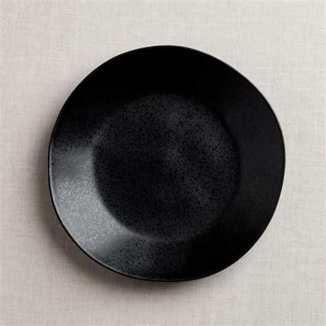 marin matte black dinner plate reviews crate  barrel