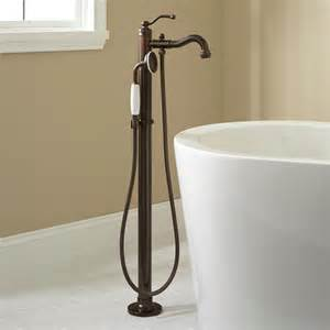 Rubbed Bronze Faucets For Freestanding Tub by Leta Freestanding Tub Faucet With Shower Rubbed