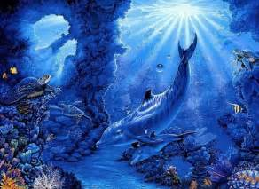 Dolphins Mermaids Underwater