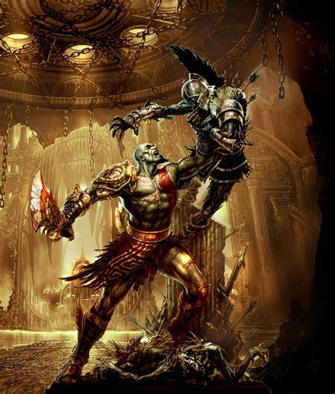 Kratos And Olympus Sentry Art God Of War Iii Art Gallery