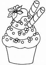 Coloring Cupcake Easy Tulamama Dessert Printable Sheets Drawing Drawings April Fun Doodle sketch template