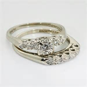 Vintage Diamond Wedding Ring Set
