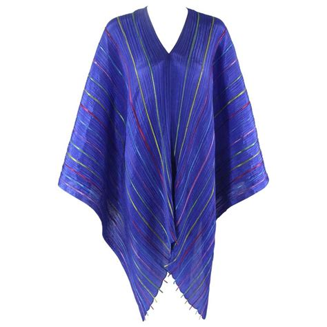 issey miyake quot pleats quot blue colorful ribbon stripe