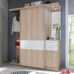Garderobe Sonoma Eiche Weiß : kompaktgarderobe swing garderobe flurm bel sonoma eiche wei mit led ebay ~ Bigdaddyawards.com Haus und Dekorationen