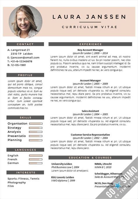 Curriculum Vitae Ppt Sle by Creative Cv Template Fully Editable In Word And