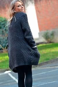 Gilet Laine Homme Grosse Maille : gilet grosse maille laine femme laine et tricot ~ Melissatoandfro.com Idées de Décoration