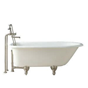 naiture freestanding cast iron clawfoot tub   length   foot finishes ebay