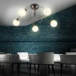Decken Licht Wohnzimmer Kugel Glas Leuchte Lampe Strahler