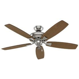 hunter 52 winslow brushed nickel ceiling fan shop hunter winslow 52 in brushed nickel indoor downrod or