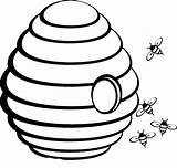 Bee Beehive Coloring Outline Pages Clipart Drawing Spring Hive Sketch Hole Middle Printable Clipartix Honey Clip Drawings Emoji Netart Poop sketch template