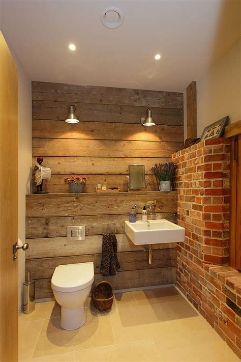 rugged  ravishing  bathrooms  brick walls