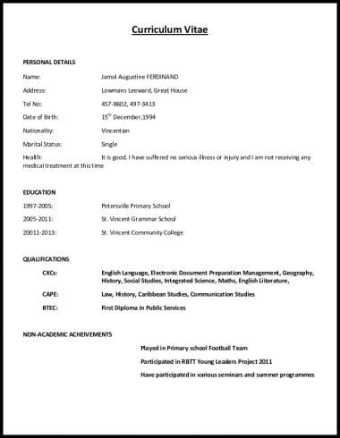 How To Make Curriculum Vitae Format by 5 Ways To Ace A