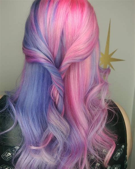 Split Personality Hair In Pastel Pink And Purple Hair