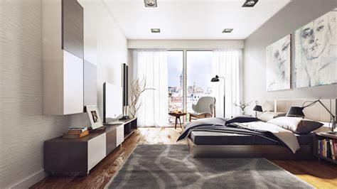 gray urban bedroom interior design ideas