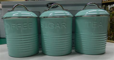 blue kitchen canisters enamel retro kitchen canisters white blue grey tea