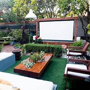 "backyard movie screen | ""A house is a home when it ..."