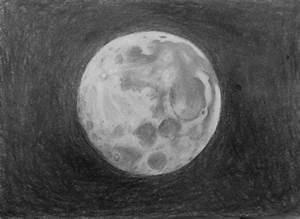 Full Moon Pencil Drawing | www.imgkid.com - The Image Kid ...