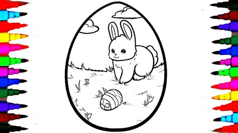 Coloring Giant Easter Egg Coloring Page Videos For