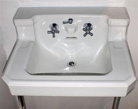 1940s Bathroom Sink vintage 1940s sink with chrome legs bathroom