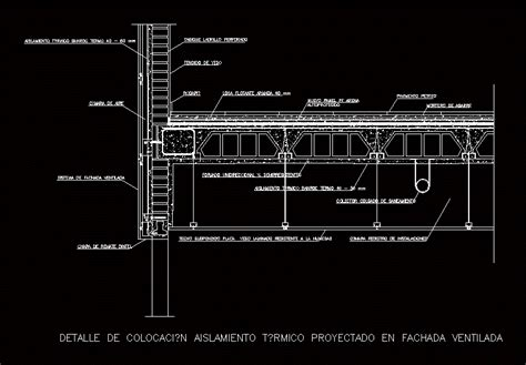 insulation  facade dwg full project  autocad