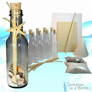 20 beach theme message in a bottle invitations glass for Beach themed wedding invitations message in a bottle