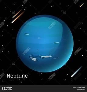 Neptune planet 3d vector illustration Stock Vector & Stock ...