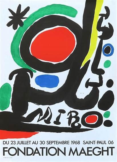 Miro Maeght Fondation Joan Poster 1968 Affiche