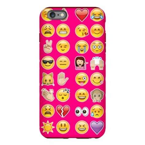 pink emojis iphone plus 6 tough from cafepress